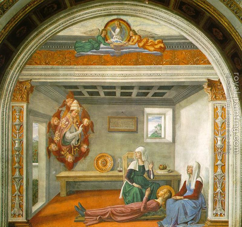 Domenico Ghirlandaio : Announcement of Death to St Fina