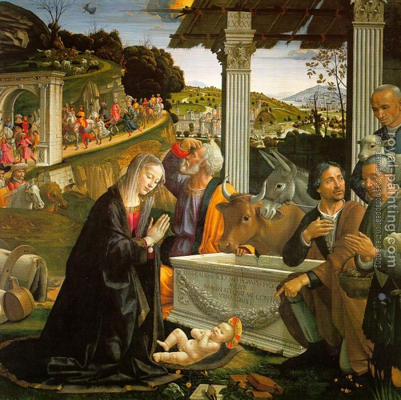 Domenico Ghirlandaio : Adoration of the Shepherds