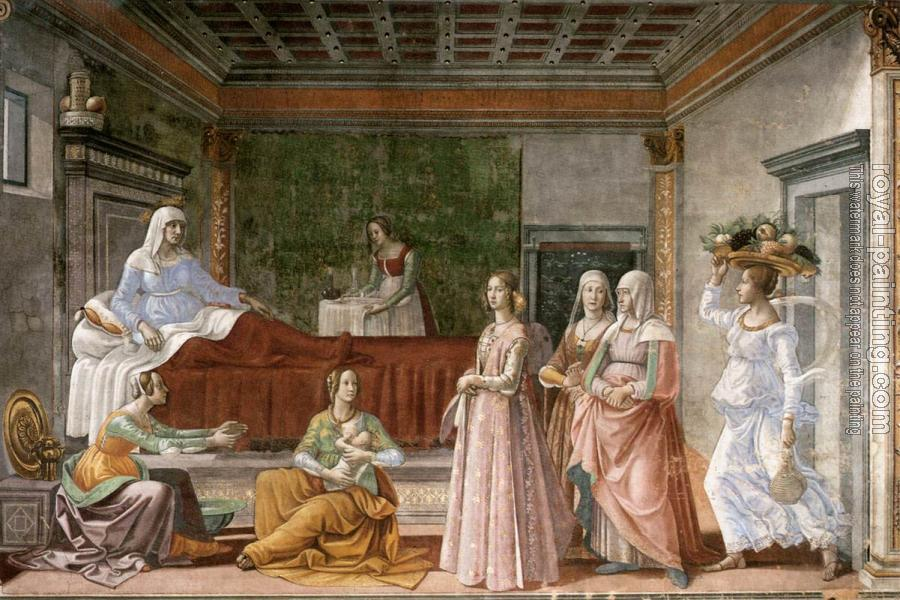 Domenico Ghirlandaio : Birth of St John the Baptist II