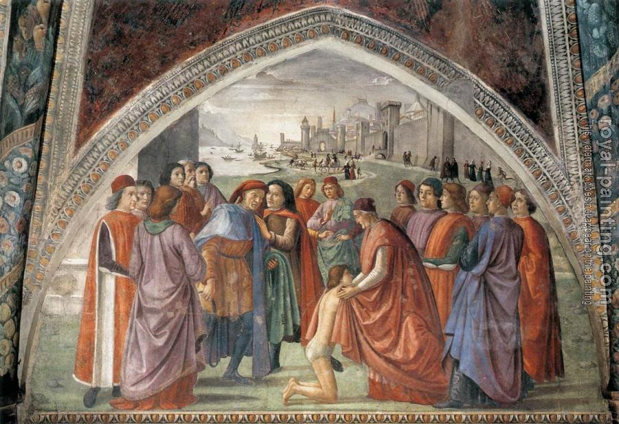 Domenico Ghirlandaio : St Francis cycle, Renunciation of Worldly Goods