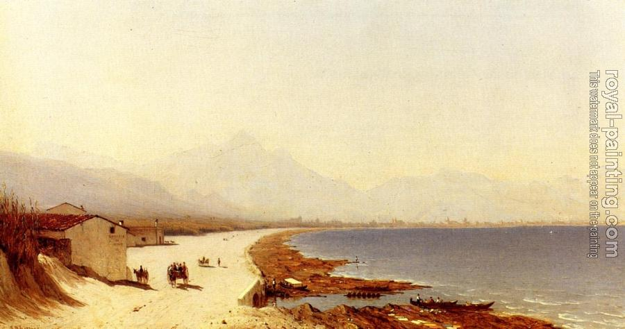 Sanford Robinson Gifford : The Road by the Sea, near Palermo, Sicily
