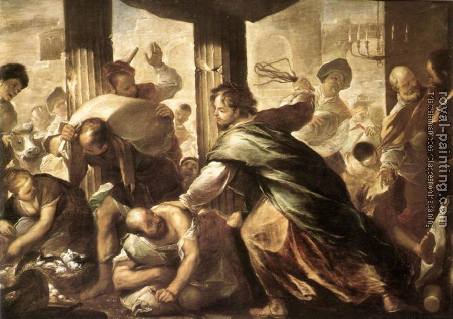 Luca Giordano : Christ Cleansing the Temple
