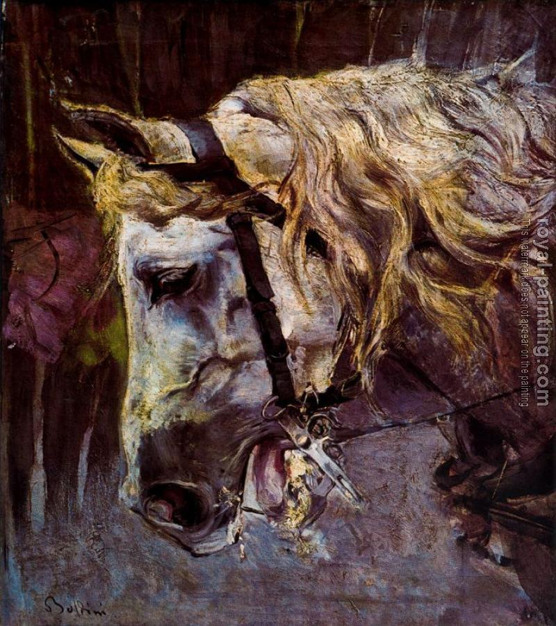 Giovanni Boldini : The Head of a Horse