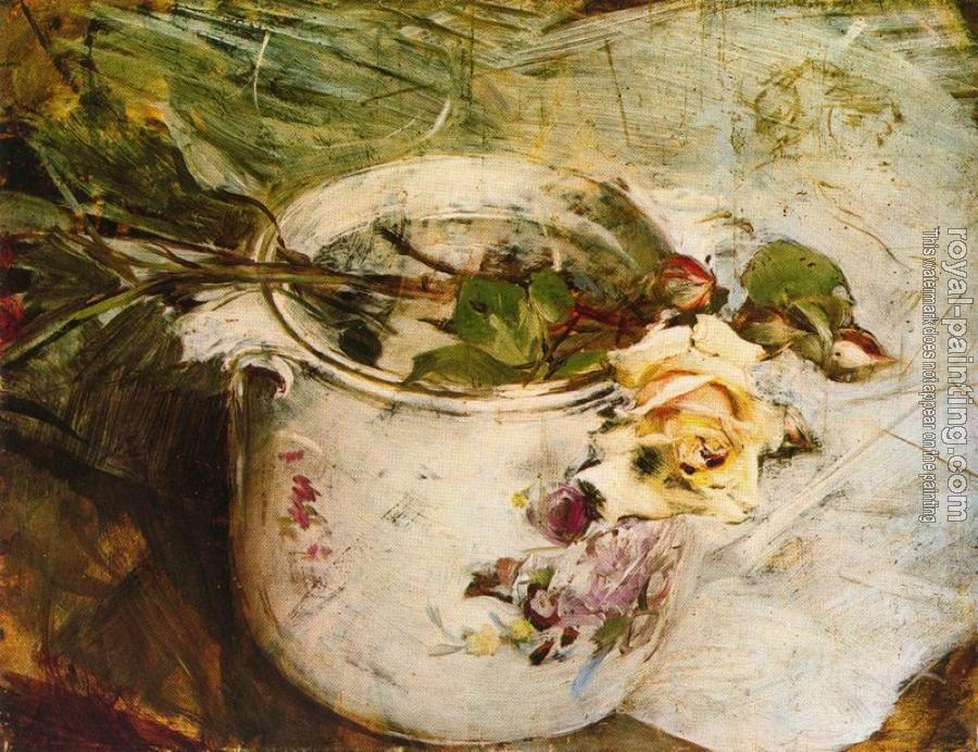 Giovanni Boldini : The Rose in Vase of Sassonia