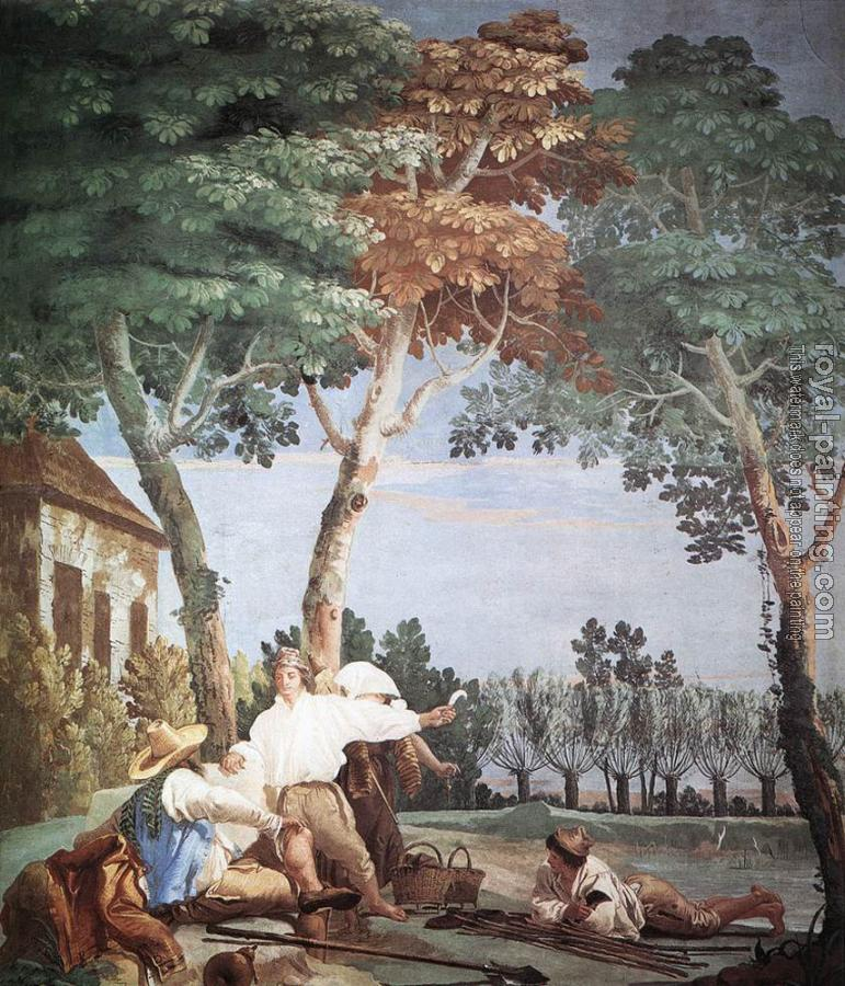 Giovanni Domenico Tiepolo : Peasants At Rest