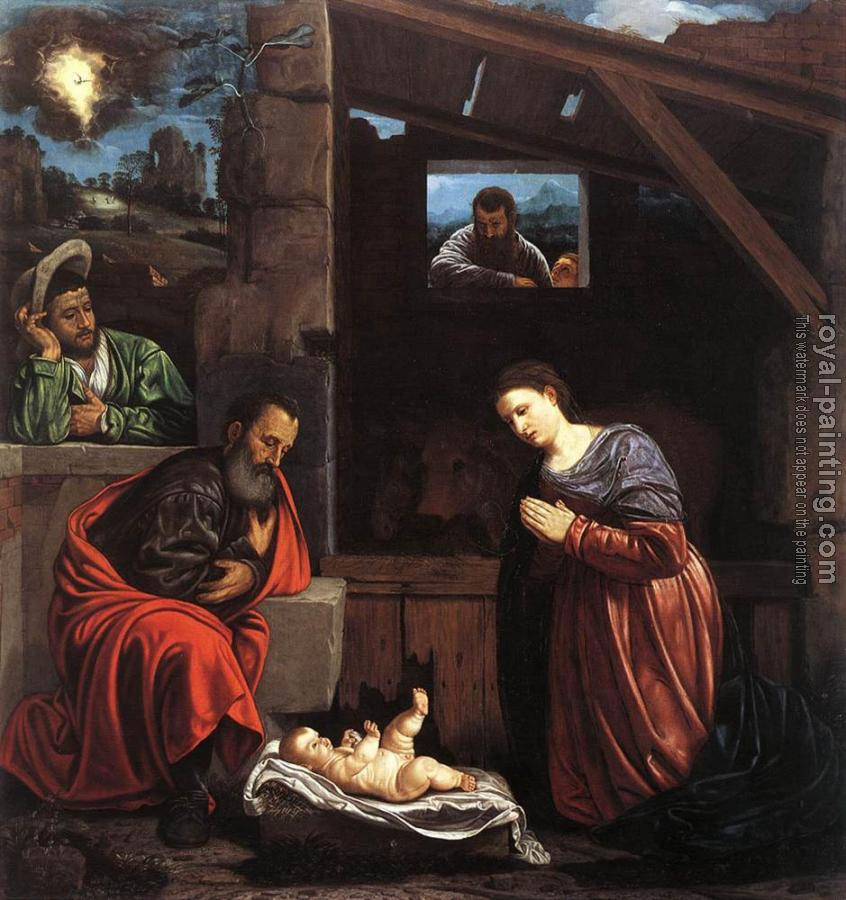 Giovanni Girolamo Savoldo : Adoration Of The Shepherds