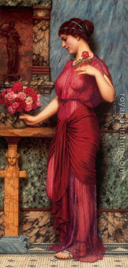 John William Godward : An Offering to Venus