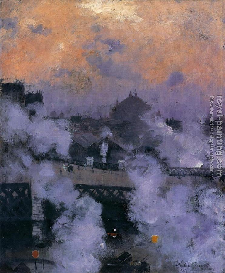 Norbert Goeneutte : The Pont de l'Europe at Night