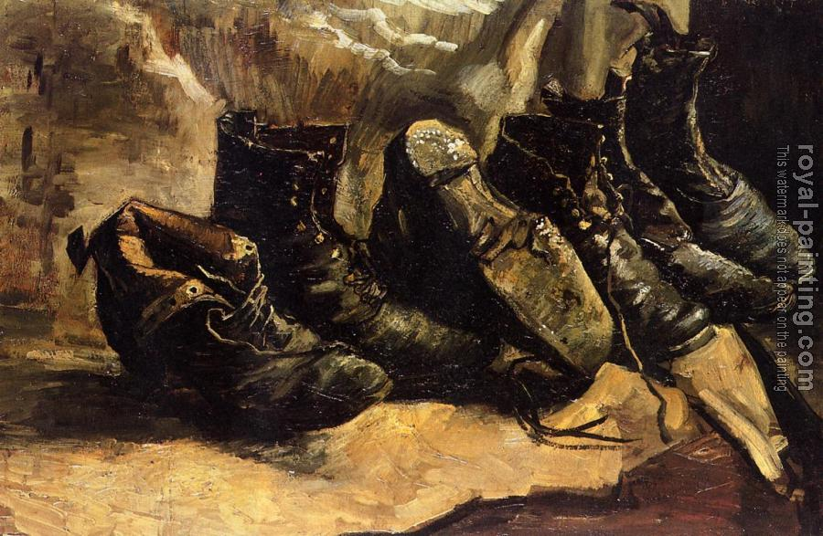 Vincent Van Gogh : Three Pairs of Shoes