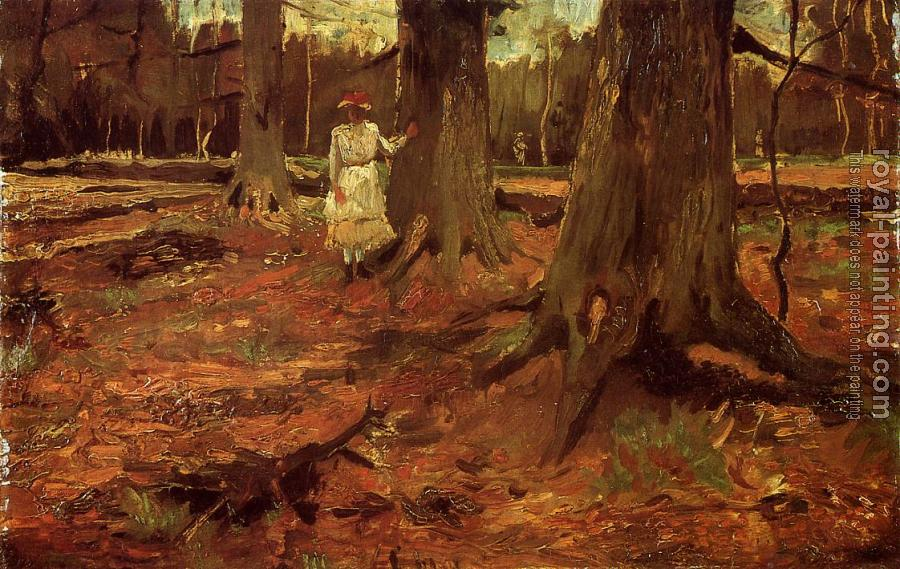 Vincent Van Gogh : A Girl in White in the Woods