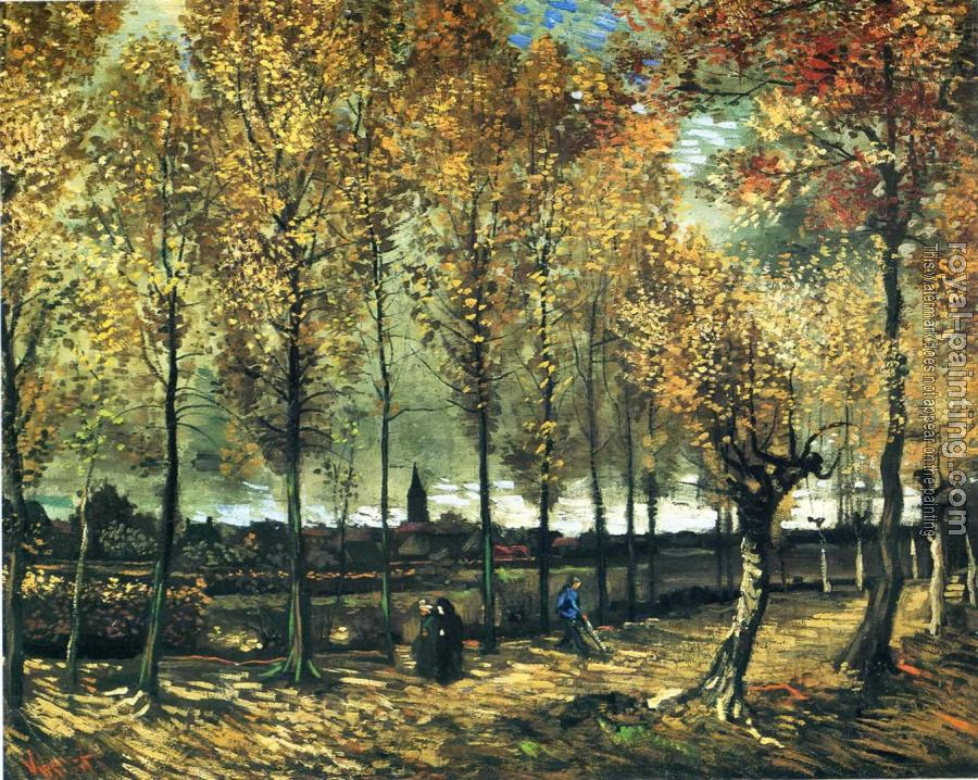 Vincent Van Gogh : Lane with Poplars II