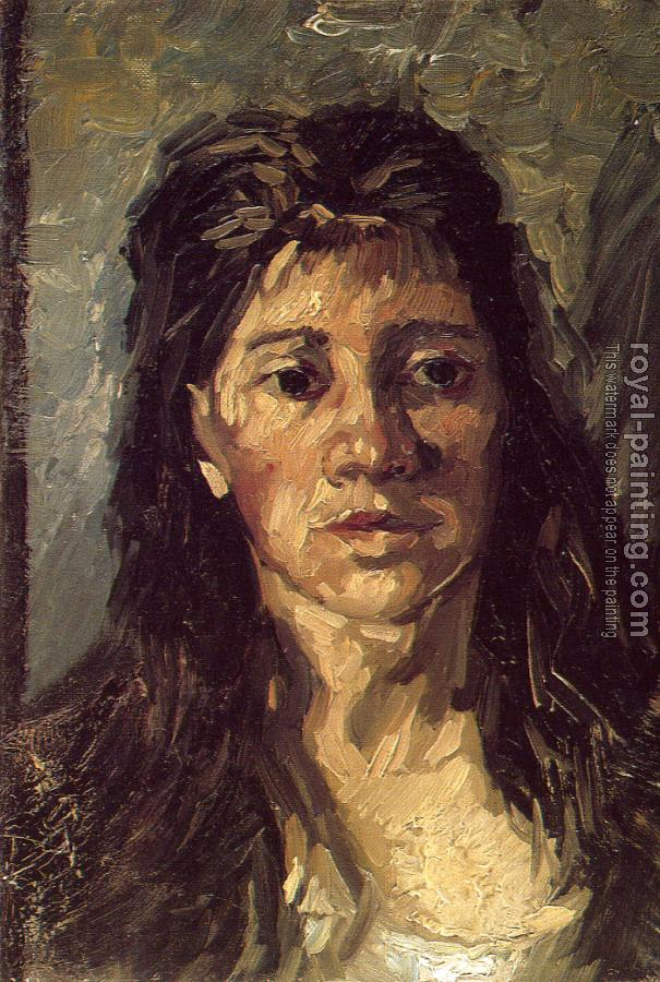 Vincent Van Gogh : Head of a Woman with Her Hair Loose