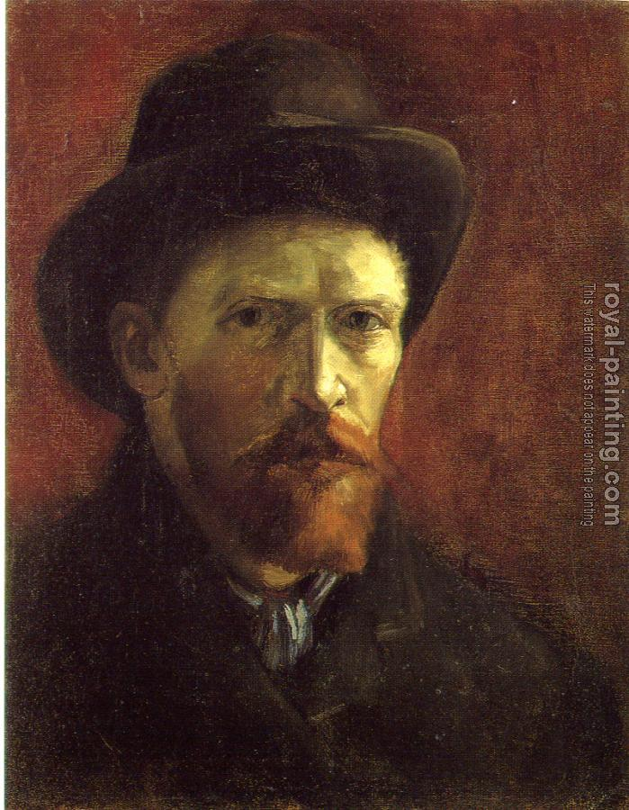 Vincent Van Gogh : Self-Portrait with Dark Felt Hat