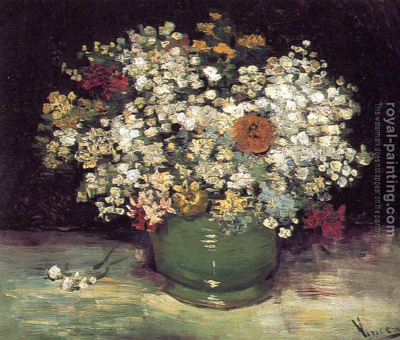 Vase Of Wild Flowers By Vincent Van Gogh Oil Painting Reproduction