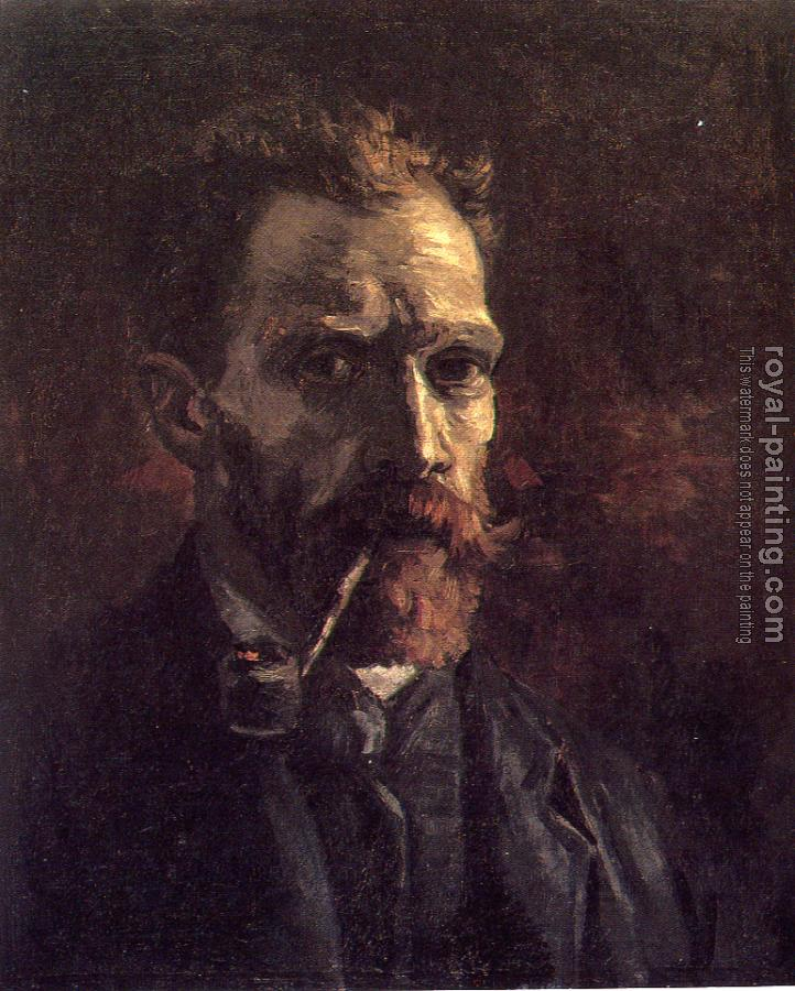 Vincent Van Gogh : Self-Portrait with Pipe
