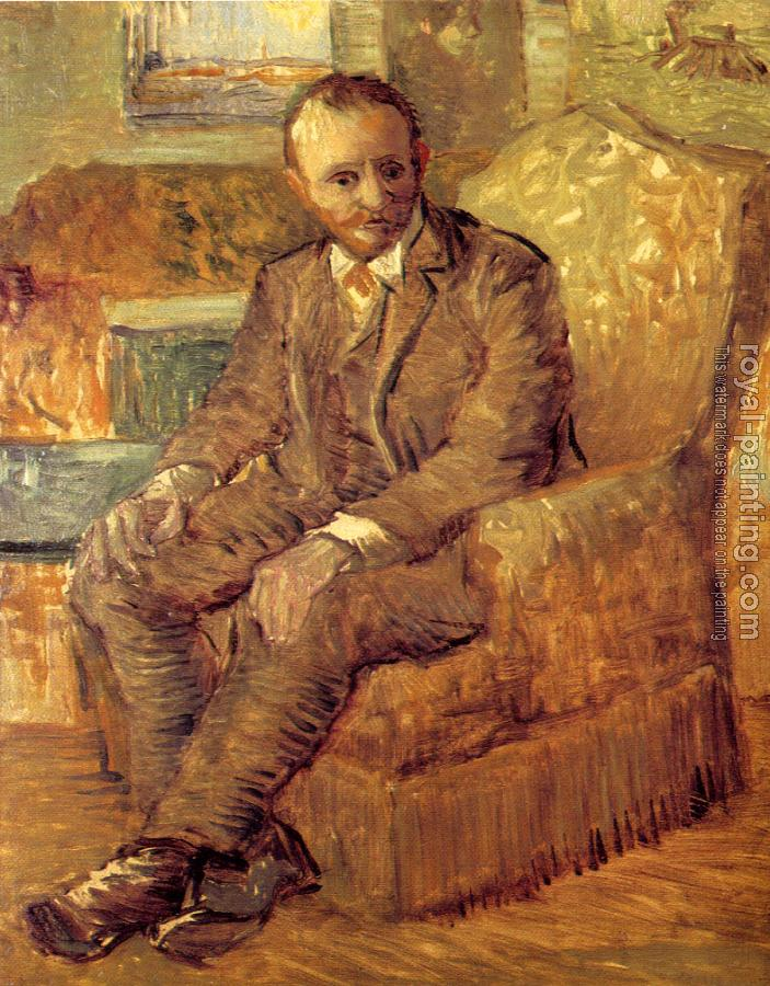 Vincent Van Gogh : Portrait of Alexander Reid,Sitting in an Easy Chair
