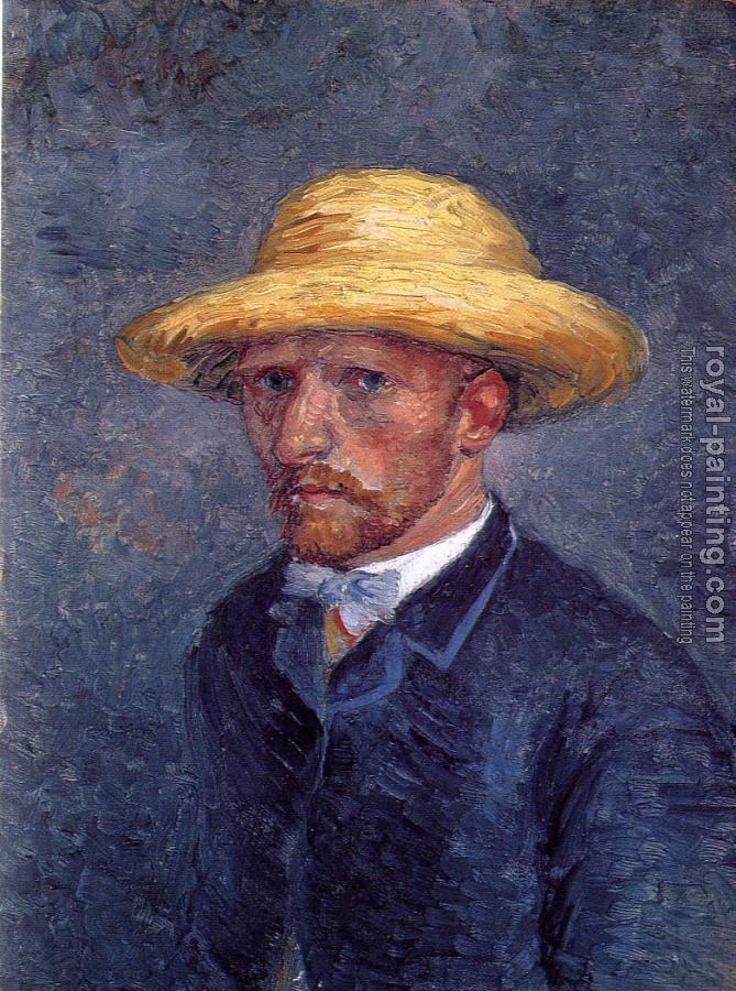 Vincent Van Gogh : Self-Portrait with Straw Hat