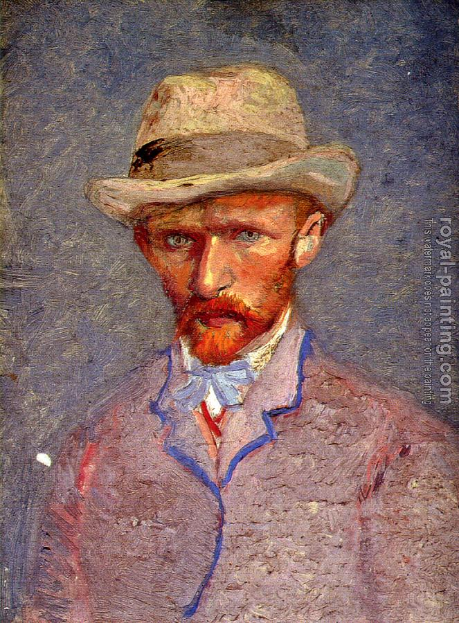 Vincent Van Gogh : Self-Portrait with Grey Felt Hat II