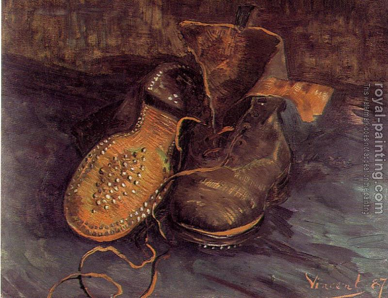 Vincent Van Gogh : A Pair of Shoes,One Shoe Upside Down