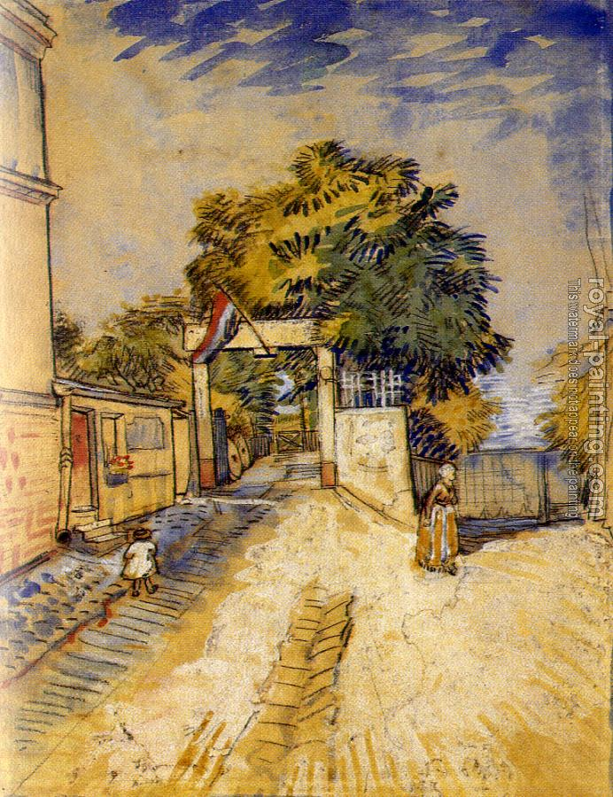 Vincent Van Gogh : Path to the Entrance of a Belvedere