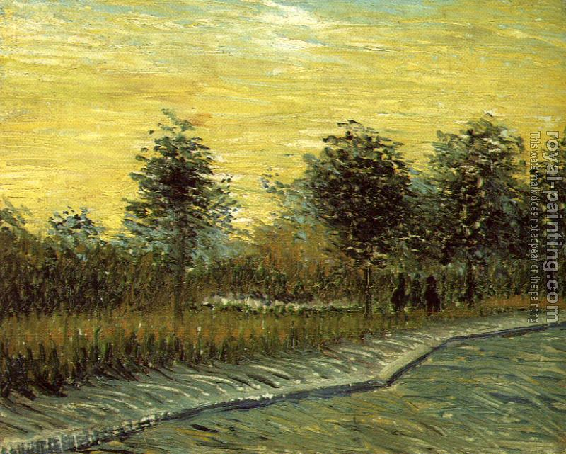 Vincent Van Gogh : Lane in a Public Garden at Asnieres