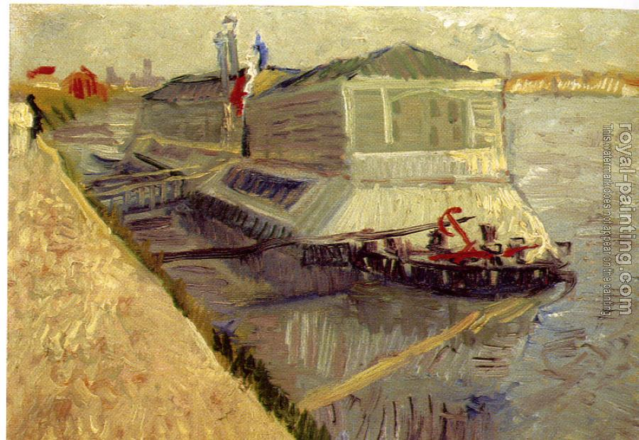 Vincent Van Gogh : Bathing Boat on the Seine