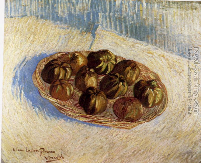 Vincent Van Gogh : Basket with Apples (Dedicated to Lucien Pissarro)