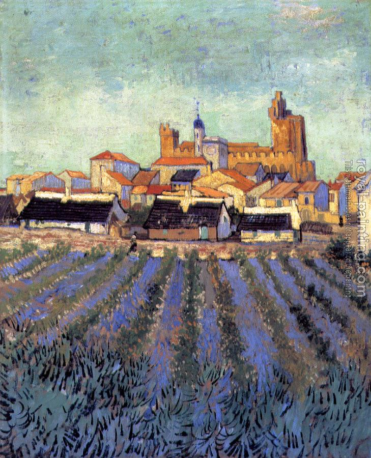 Vincent Van Gogh : View of Saintes-Maries