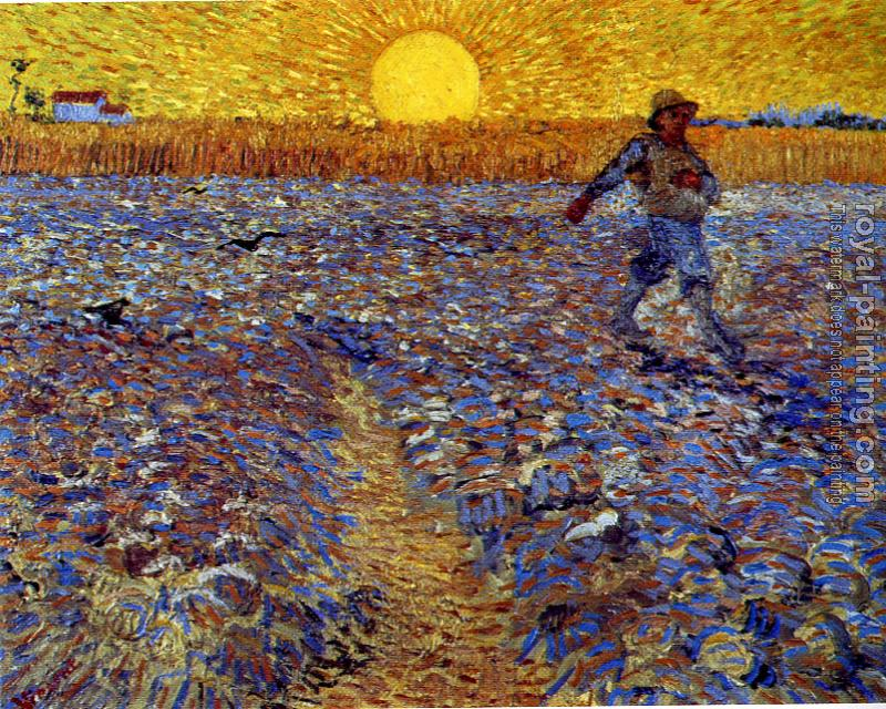 Vincent Van Gogh : Sower with Setting Sun