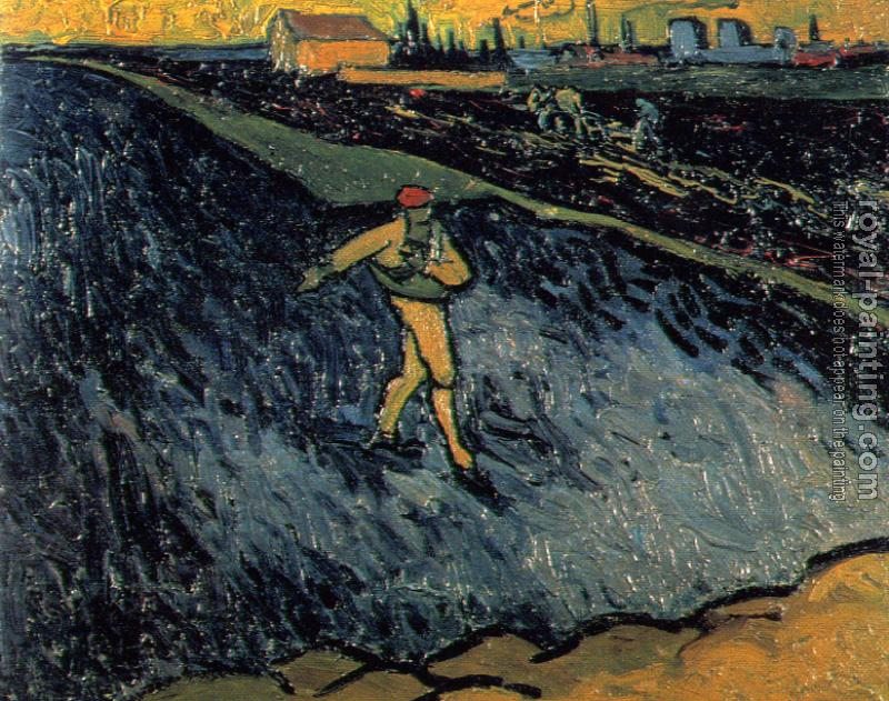 Vincent Van Gogh : The Sower Outskirts of Arles in the Background