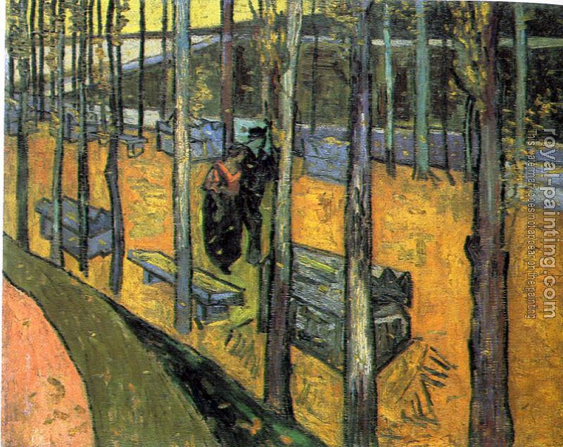 Vincent Van Gogh : The Alyscamps,Avenue at Arles III