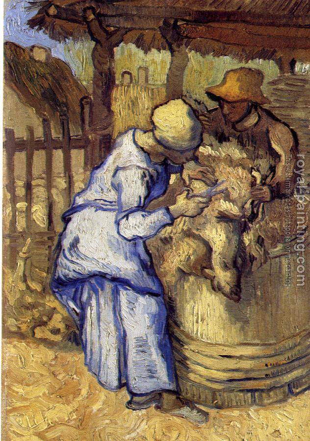 Sheep-Shearers(after Millet)