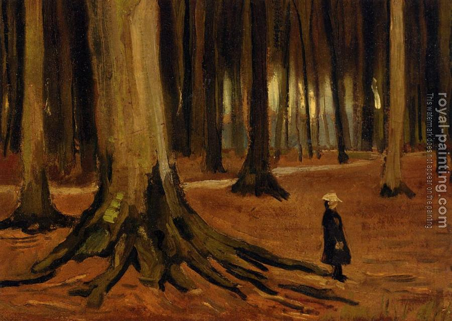Vincent Van Gogh : A Girl in a Wood II