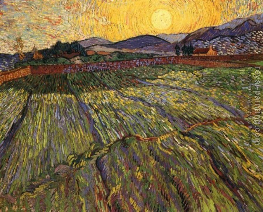 Vincent Van Gogh : Enclosed Field with Rising Sun