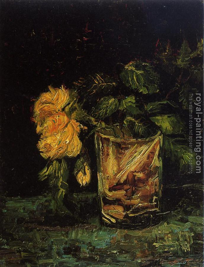 Vincent Van Gogh : Glass with Roses II