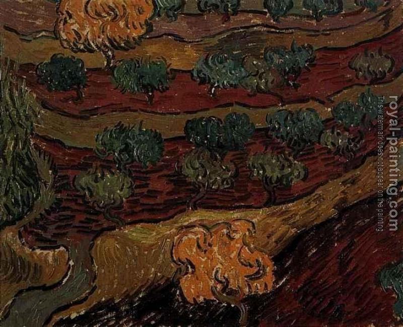 Vincent Van Gogh : Olive Trees against a Slope of a Hill
