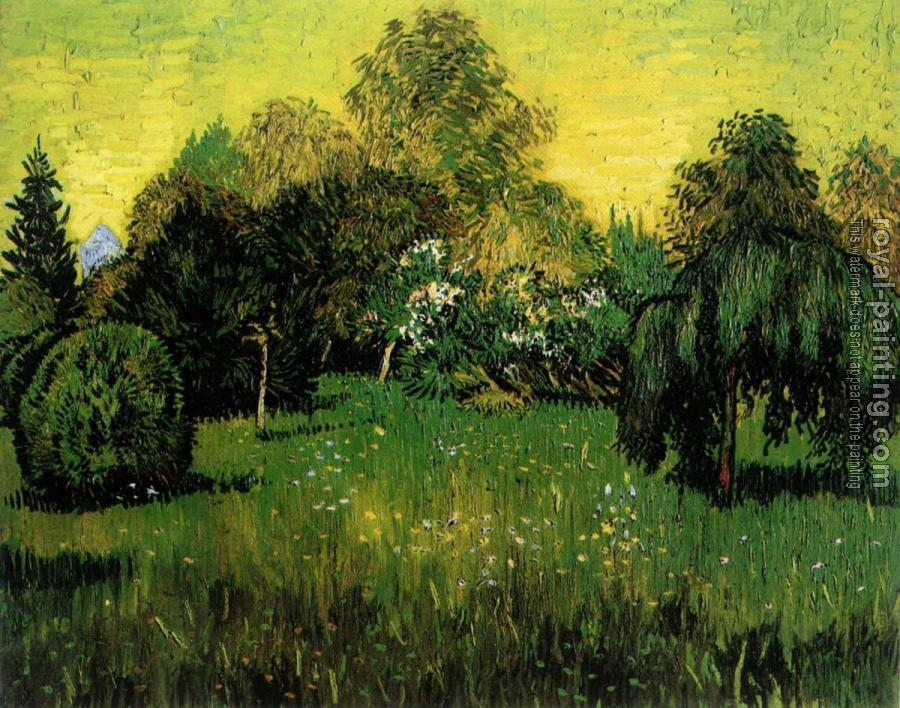 Vincent Van Gogh : Public Park with Weeping Willow