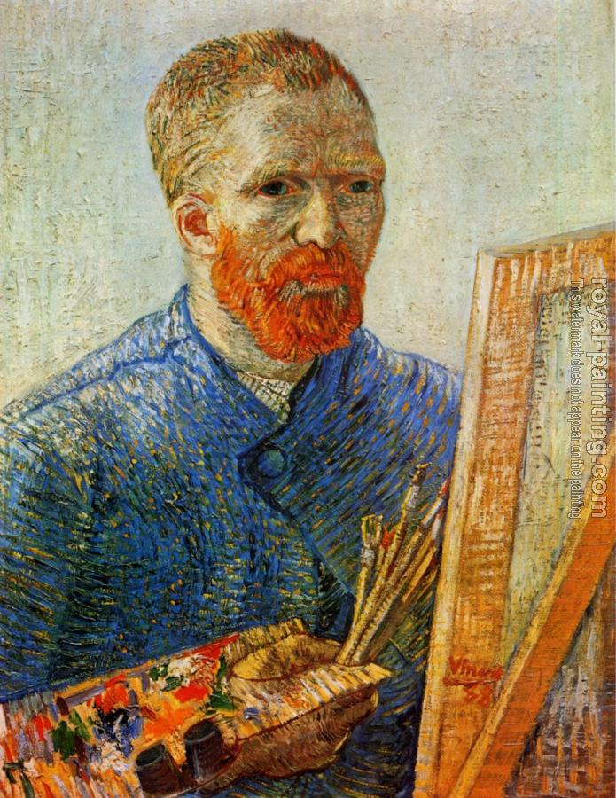 Vincent Van Gogh : Self Portrait in Front of the Easel II