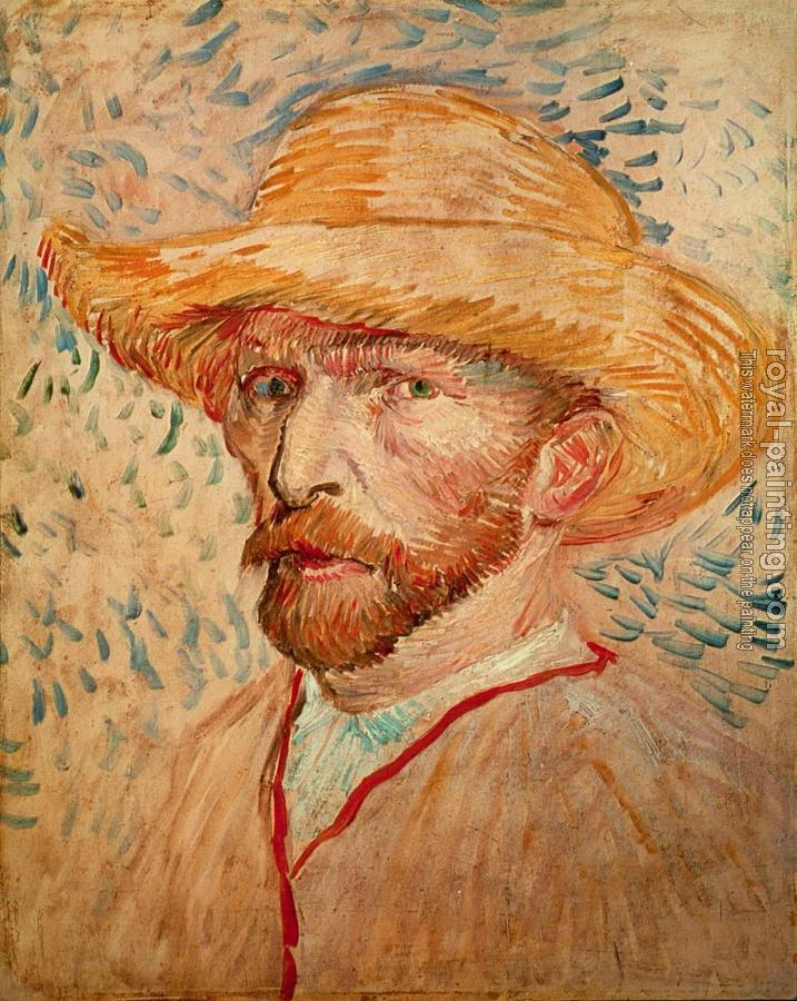 Vincent Van Gogh : Self Portrait with Straw Hat, I