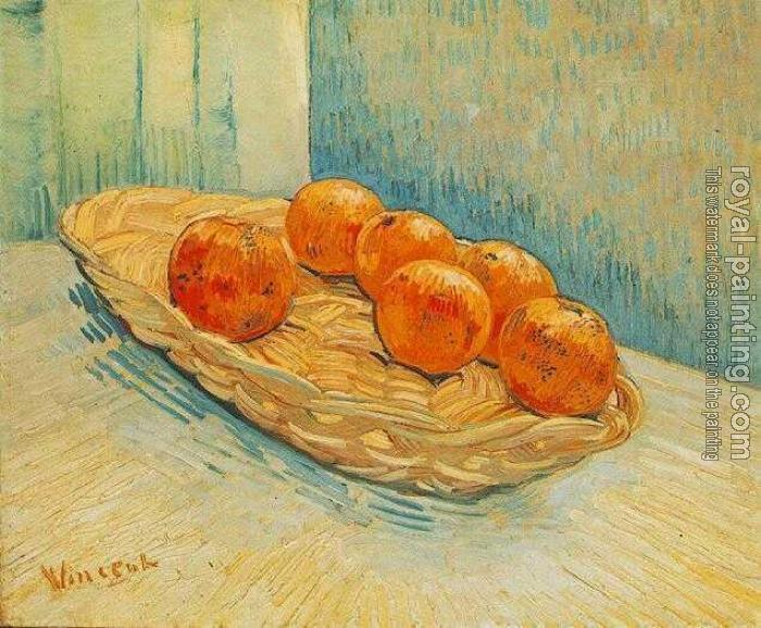 Vincent Van Gogh : Still Life with Basket of Six Oranges