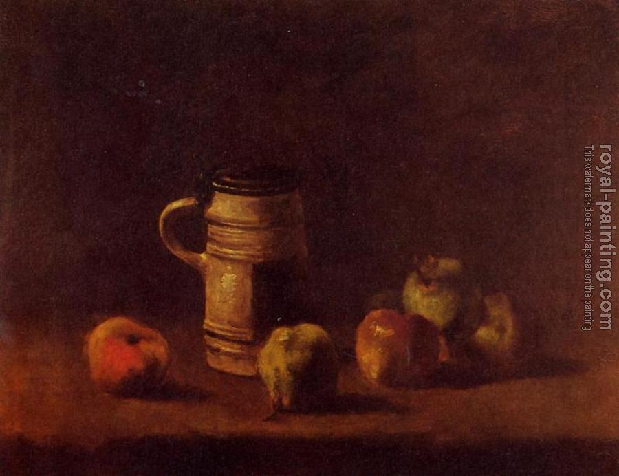 Vincent Van Gogh : Still Life with Beer Mug and Fruit
