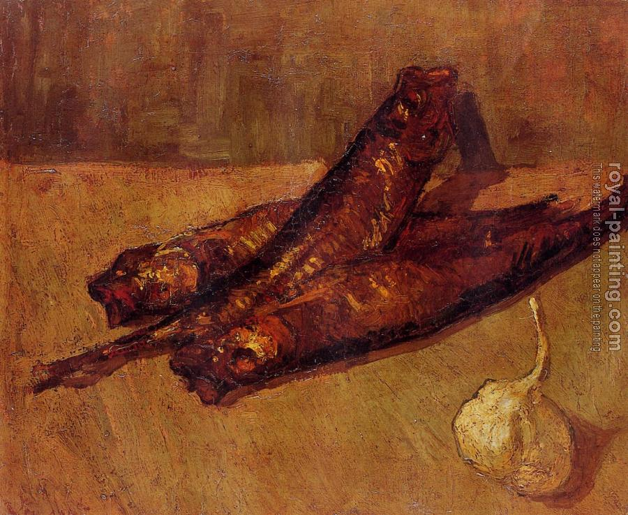 Vincent Van Gogh : Still Life with Bloaters and Garlic