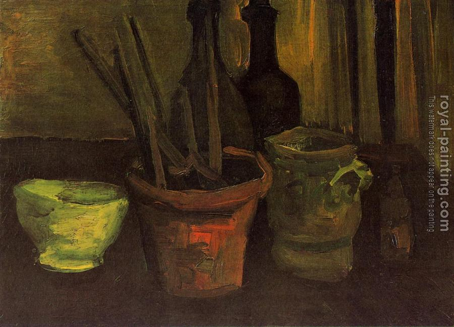 Vincent Van Gogh : Still Life with Paintbrushes in a Pot