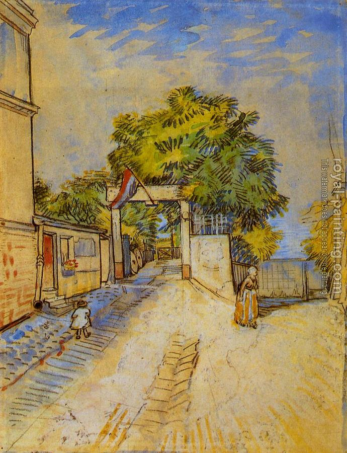 Vincent Van Gogh : The Entrance of a Belvedere