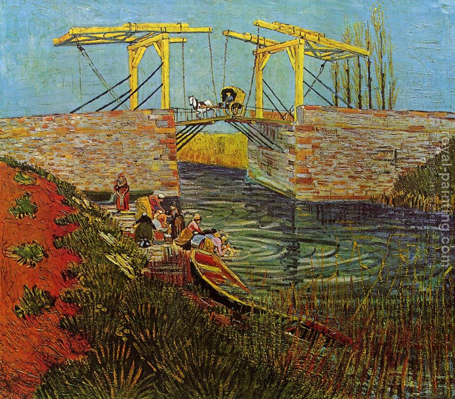 Vincent Van Gogh : The Langlois Bridge at Arles with Women Washing III
