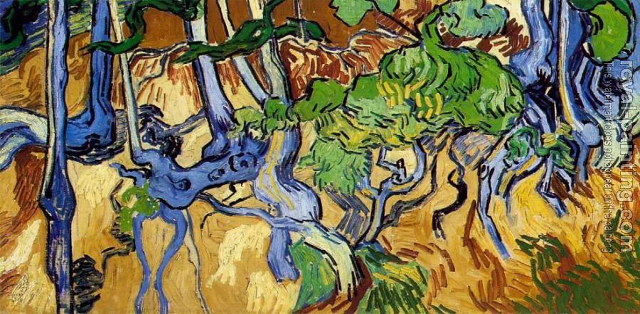 Vincent Van Gogh : Tree Roots and Trunks