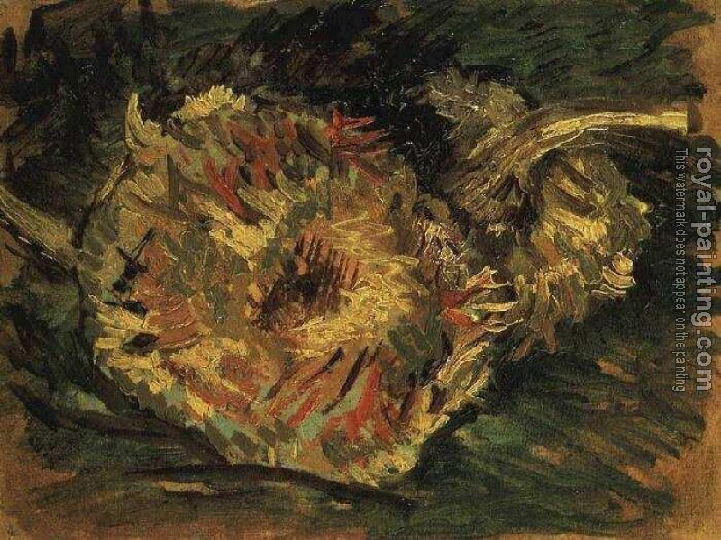 Vincent Van Gogh : Two Cut Sunflowers III