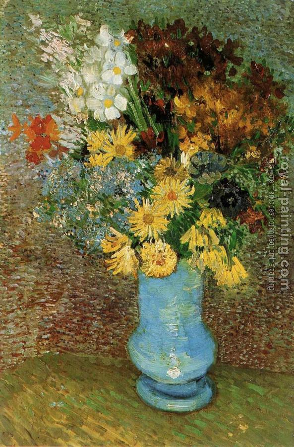 Vincent Van Gogh : Vase with Daisies and Anemones