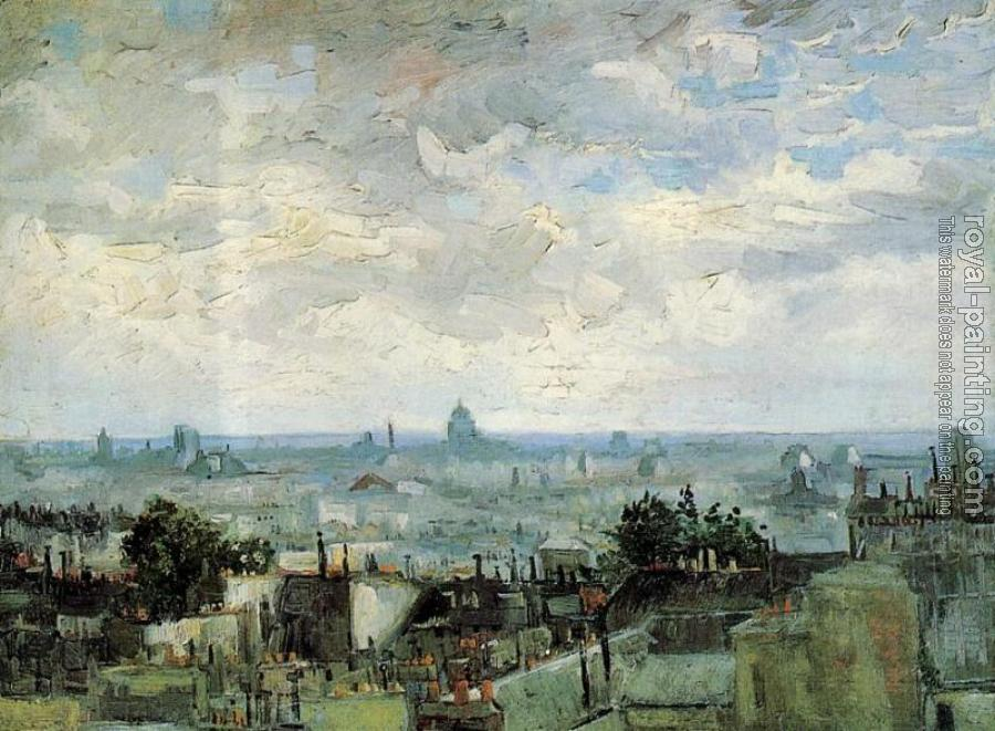 Vincent Van Gogh : View of the Roofs of Paris II