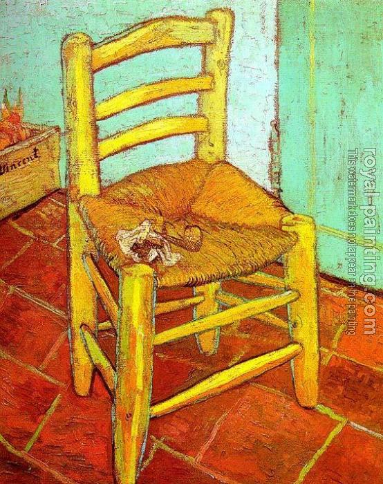 Vincent Van Gogh : Vincent's Chair with His Pipe